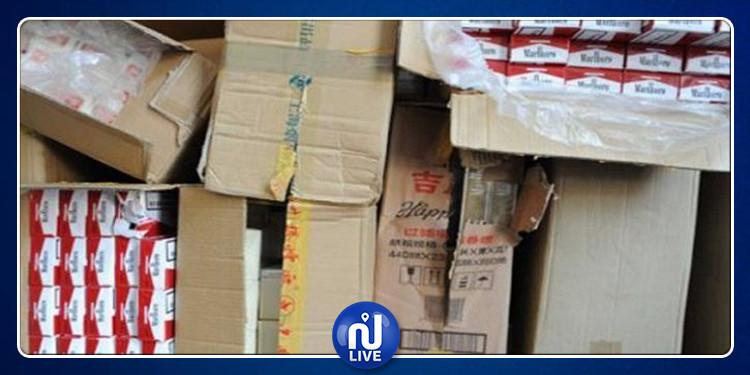 سبيبة: ضبط شحنة من السجائر المهربة قبل توزيعها