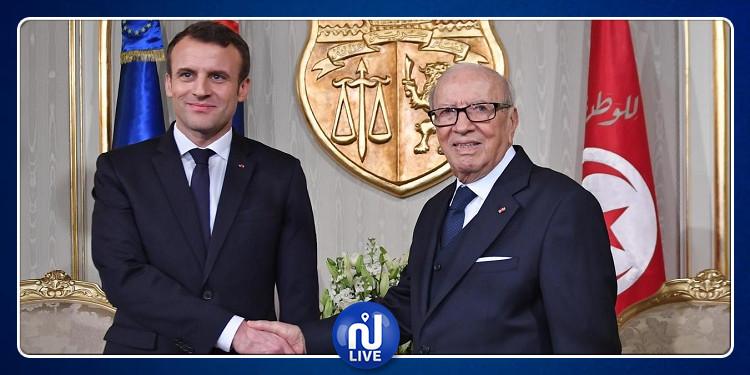 ماكرون: رحل السبسي القائد الشجاع وفرنسا فقدت صديقا للجمهورية