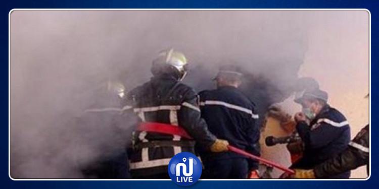 لاكانيا: اندلاع حريق في أرض غير مشيّدة