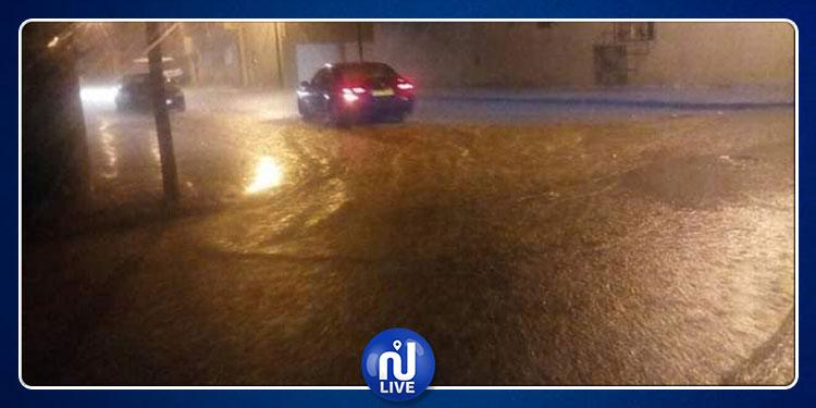القصرين: أمطار غزيرة وصواعق رعدية تقطع التيار الكهربائي