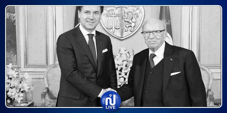 رئيس الحكومة الايطالية يقدم التعازي في وفاة الباجي قايد السبسي