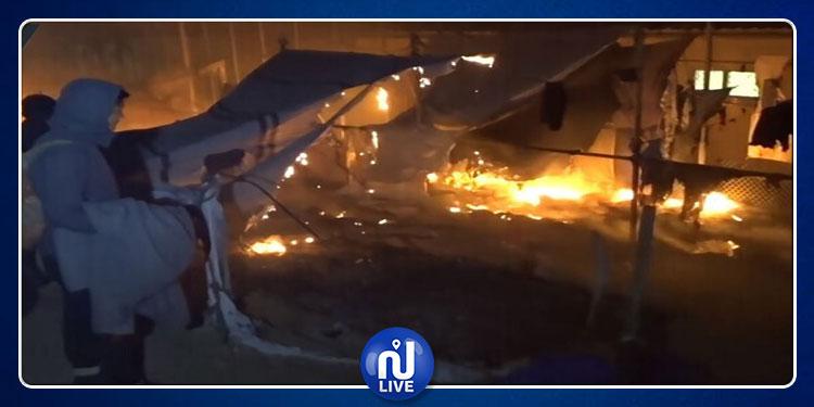 اليونان: مصرع امرأة وطفل في حريق بمخيم لاجئين واندلاع اشتباكات