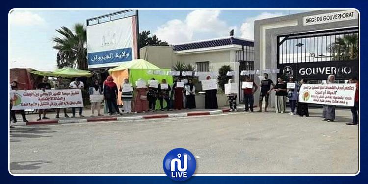 القيروان:   أصحاب الشهائد العليا يحتجون من أجل الحق في التشغيل
