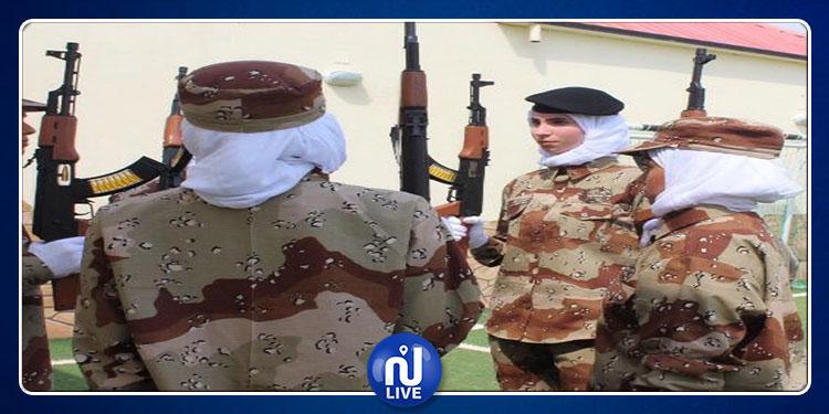 لأول  مرّة في السعودية.. استعراض عسكري للنساء