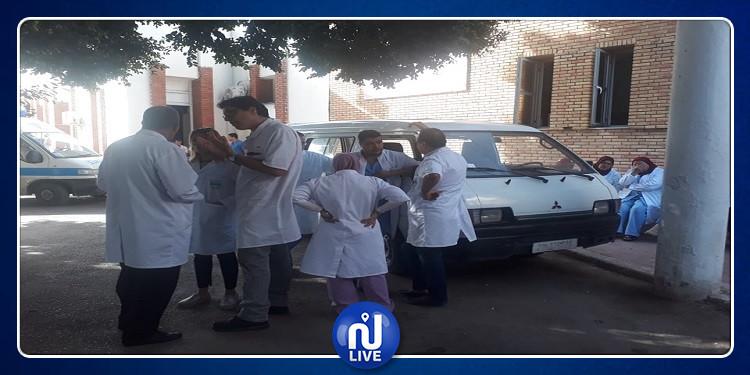 القيروان: وقفة احتجاجية لأعوان الصحة بوحدة الاغالبة للاختصاصات الجراحية (صور)