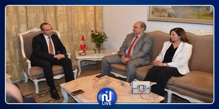 جلسة عمل بين هيئة الانتخابات واطارات أمنية سامية بوزارة الداخلية
