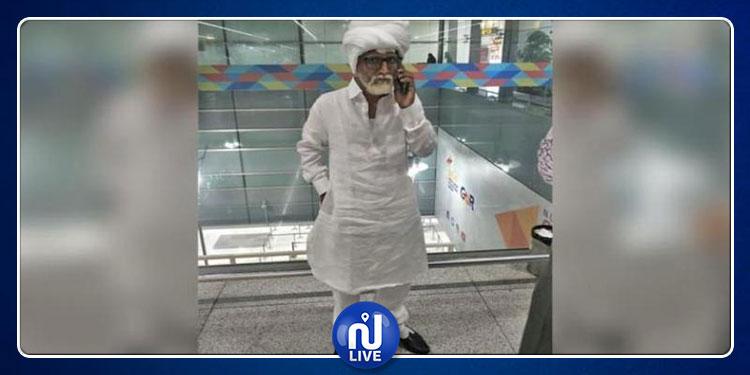 شاب يتنكر بهيئة عجوز في مطار هندي ليتمكن من السفر إلى الولايات المتحدة