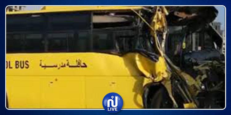 دبي: إصابة 15 طالبا في حادث اصطدام حافلة مدرسية