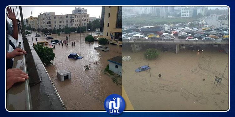 العاصمة تغرق ..  تعطَل حركة المرور جرّاء الأمطار (صور)