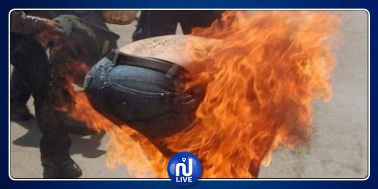 السبيخة: شاب يضرم النار في جسده أمام مركز الأمن الوطني