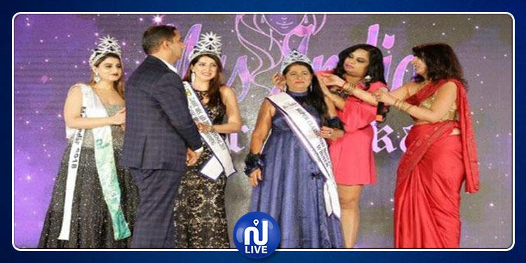 ستينية تفوز بلقب ملكة جمال الهند