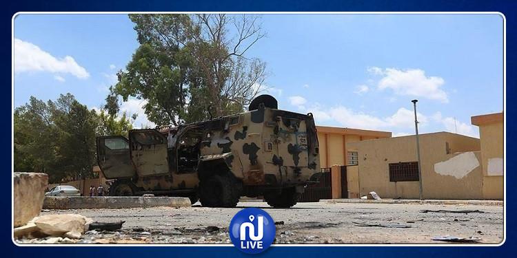 ليبيا: طيران ''الوفاق'' يستهدف رتل  لقوات حفتر بترهونة