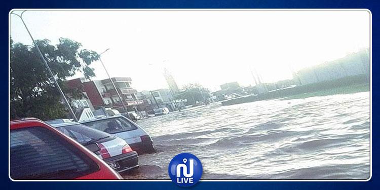 منوبة: شفط المياه من 11 منازلا واجلاء ومساعدة 60 شخصا وإزاحة 13 سيارة عالقة