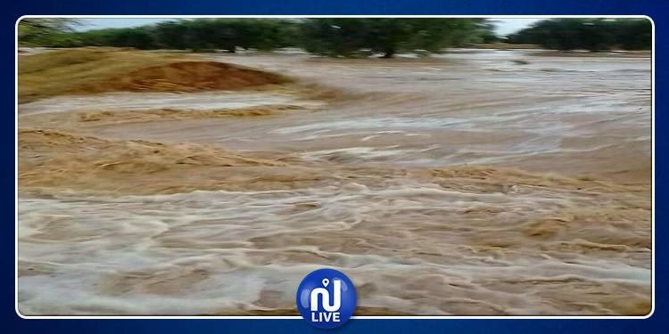 القيروان: منطقة بئر الفيضفي عزلة بسبب غزارة الأمطار (صور)