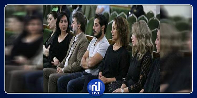 نجوم الدراما السورية في عزاء شوقي الماجري (صور)