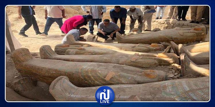 مصر تكتشف أكبر توابيت فرعونية ملوّنة