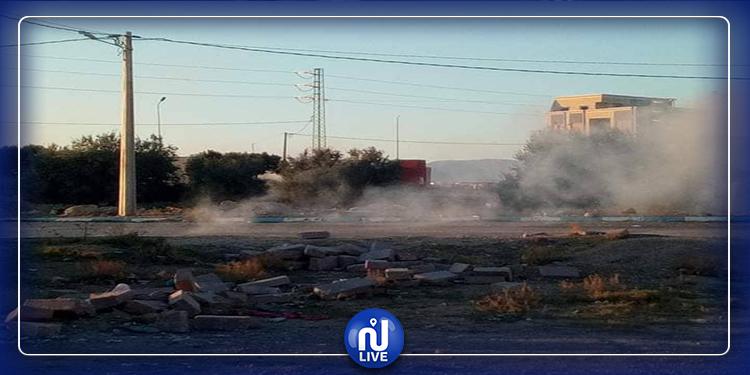 جلمة: احتجاجات  والأمن يستعمل  الغاز المسيل للدموع (صور)