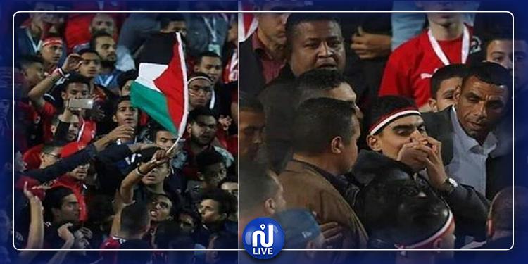 حبس شاب مصري رفع علم فلسطين