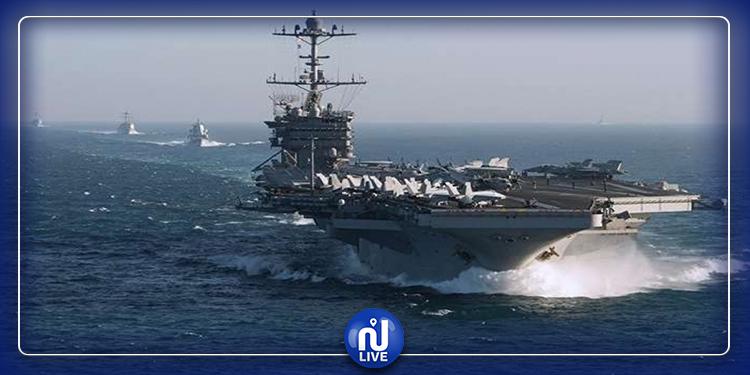 حاملة طائرات حربية أمريكية تدخل مياه المتوسط