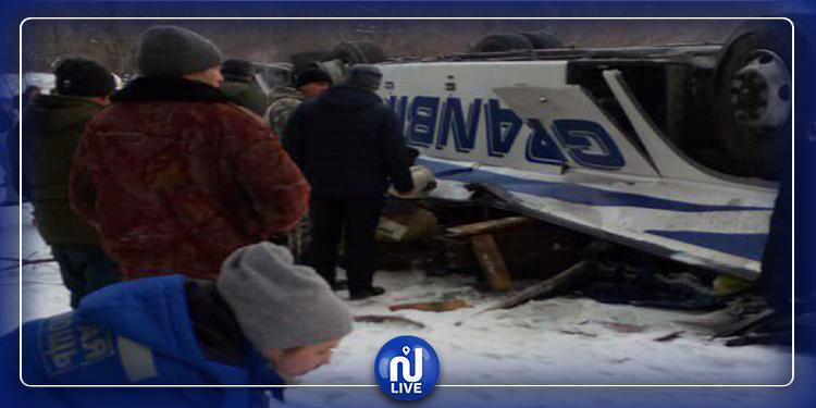 روسيا: مقتل 19 شخصا في انقلاب حافلة سياحية
