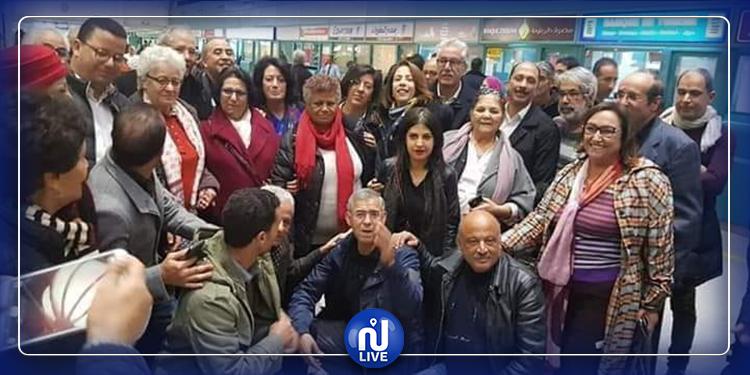 راضية النصراوي تغادر تونس لتلقي العلاج ( صور)
