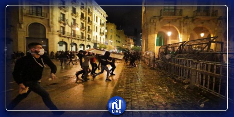 بيروت: تسجيل إصابات خلال مواجهات الشرطة ومحتجين