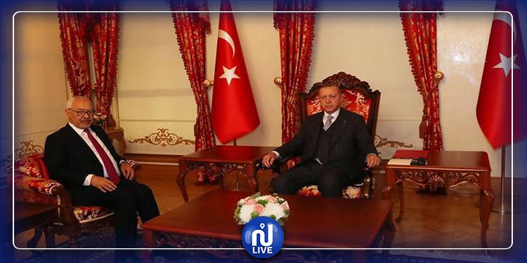 راشد الغنوشي في اجتماع مغلق مع أردوغان