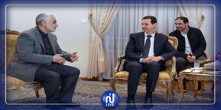بشّار الأسد يمنح وسام الجمهورية لقاسم سليماني (صور)