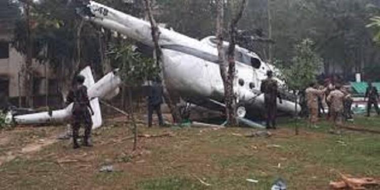 سقوط طائرة تابعة  للجيش الكويتي في بنغلاديش (صور)