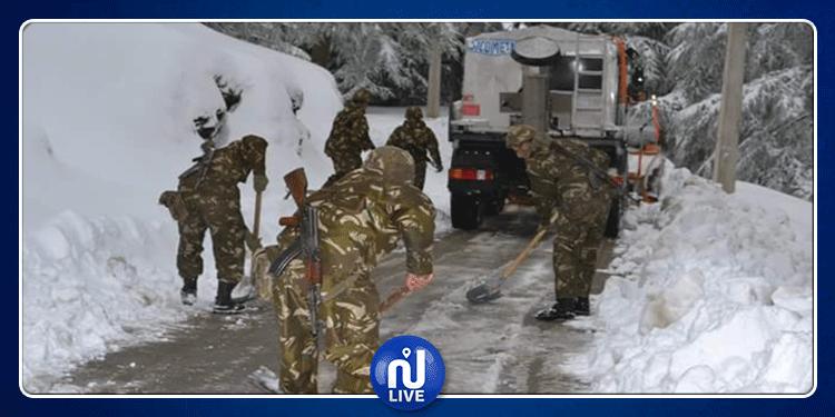 تبسة: الجيش الجزائري يجلي عائلات تونسية علقوا بسياراتهم في الثلوج