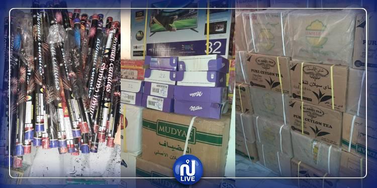 Gabès: saisie d'une quantité de thé et de feux d'artifices d'une valeur 123 mille dinars