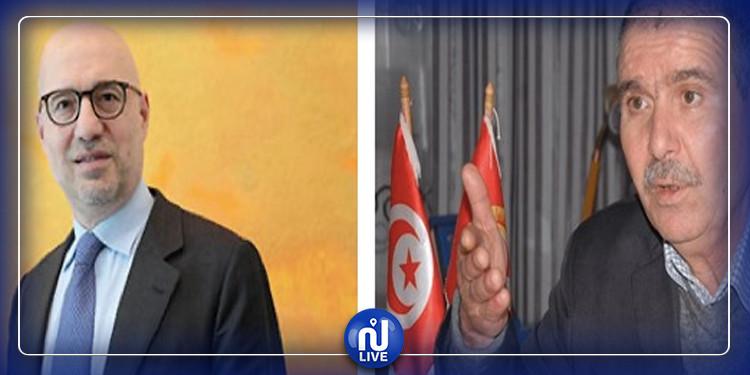 UGTT : Tabboubi reçoit l'ambassadeur d'Italie en Tunisie