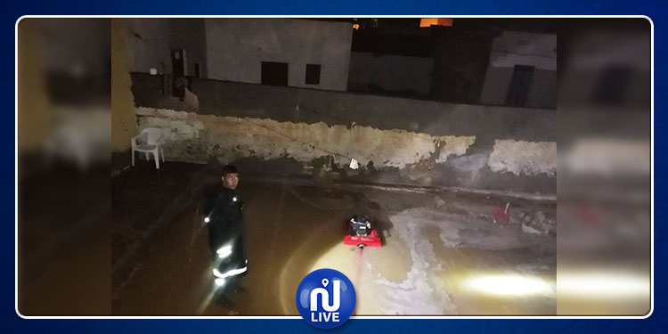 تطاوين : تدخل وحدات الحماية المدنية إثر نزول كميات هامة من الأمطار