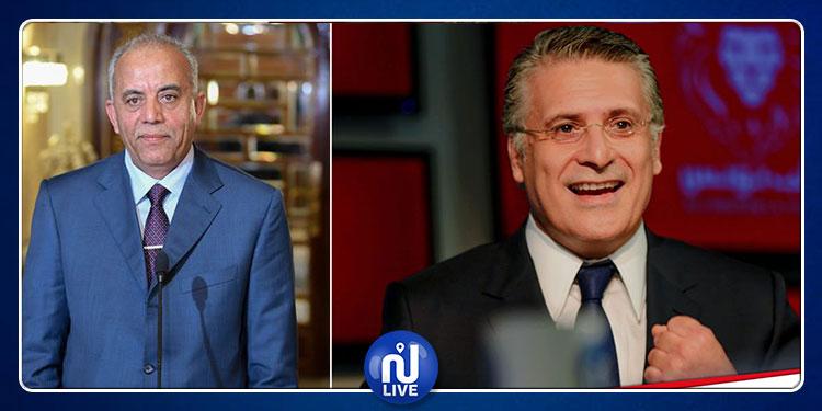 الحبيب الجملي يستقبل وفدا عن حزب قلب تونس برئاسة  نبيل القروي