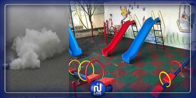 جلمة:  قنابل الغاز المسيل للدموع داخل روضة أطفال (فيديو)