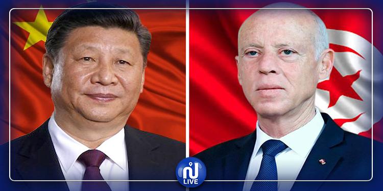 قيس سعيد يتلقى رسالة شكر من  رئيس جمهورية الصين