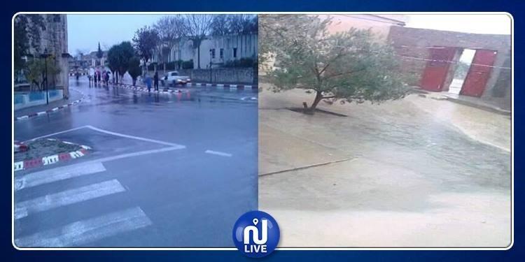 مكثر: مياه الأمطار تغمر منازل والحماية تتدخل