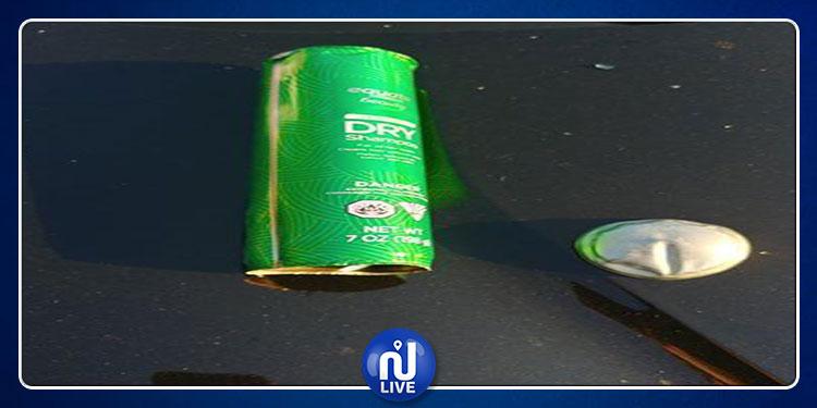 عبوة شامبو تتسبب في انفجار سيارة (صور)