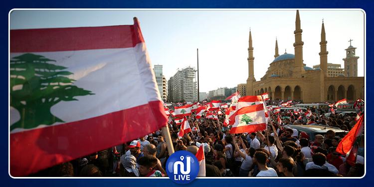 لبنان: محتجون يحرقون العلم الإسرائيلي (فيديو)