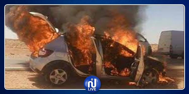 جربة:  إشتعال سيارة تعليم سياقة وإصابة شخصين بحروق