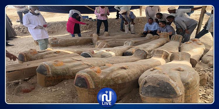مصر: اكتشاف أثري جديد يضم 20 تابوتا خشبيا ملونا (صور)