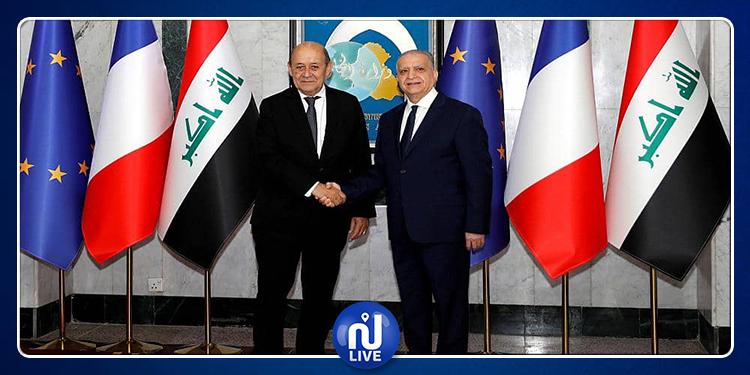 وزير الخارجية الفرنسي في بغداد لبحث مصير الإرهابيين الأجانب