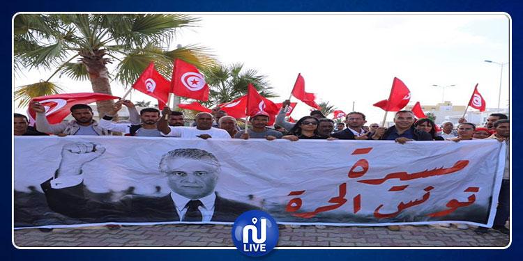 انطلقت من قابس.. وصول مسيرة ''تونس الحرة'' إلى المحرس (فيديو)
