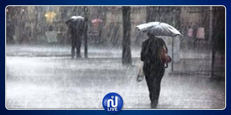 نشرة خاصة:  تقلبات جوية ونزول أمطار رعدية غدا الثلاثاء