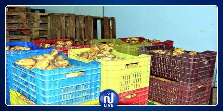 قليبية : حجز 9 أطنان من البطاطا بحوزة محتكرين