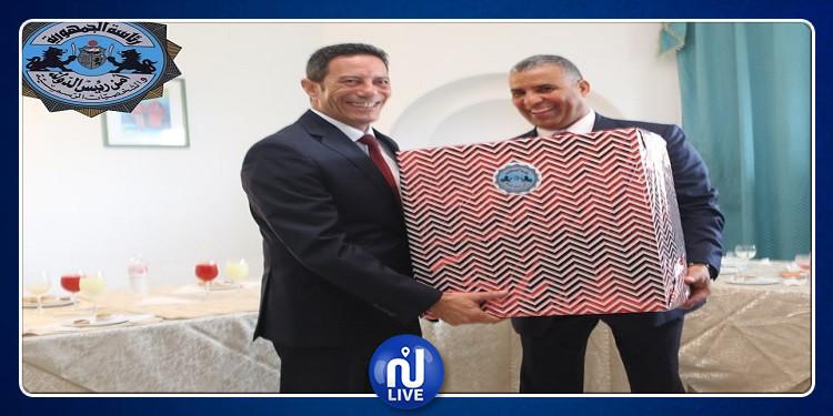 تكريم المدير العام المُتخلي للإدارة العامة لأمن رئيس الدولة(صور)