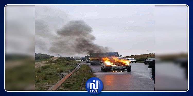 اندلاع حريق في سيارة بالطريق بين تونس وصفاقس