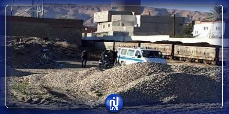 المتلوي: خروج قطار نقل الفسفاط عن مساره(صور)