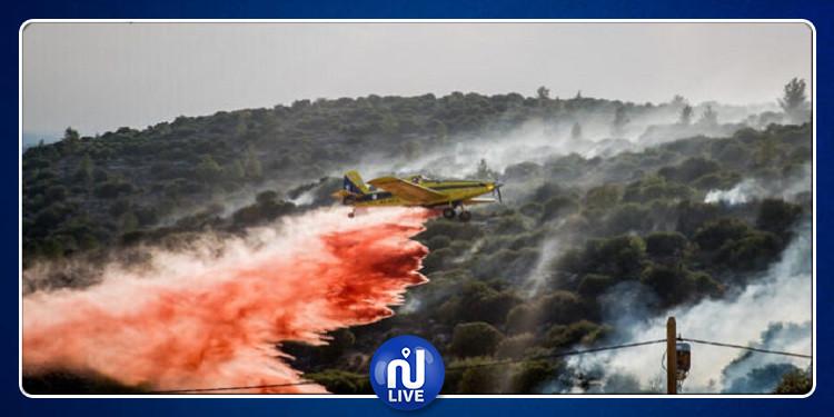 القدس: عشرات فرق الإطفاء والطائرات تحاول إخماد حريق هائل