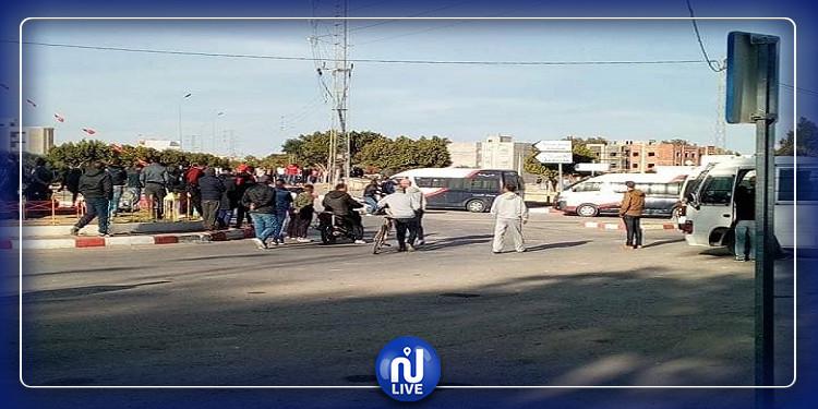 جلمة: عودة الإحتجاجات وغلق الطريق الوطنية عدد 3 (صور)